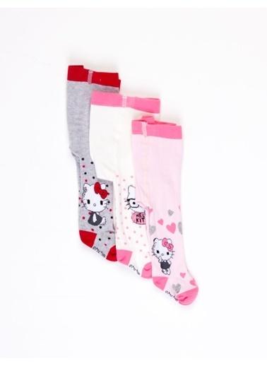 Hello Kitty Bebek 3'Lü Külotlu Çorap 17054 Pembe